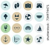 season icons set. collection of ... | Shutterstock .eps vector #734974471