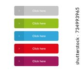 click here button set | Shutterstock .eps vector #734993965