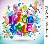 mega sale | Shutterstock .eps vector #73499626
