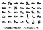 shoes icon set. simple set of... | Shutterstock .eps vector #735001075