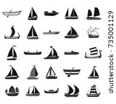 Boat Icon Set. Simple Set Of...