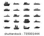 Ship Icon Set. Simple Set Of...