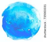 spot circle watercolor blot... | Shutterstock . vector #735003331