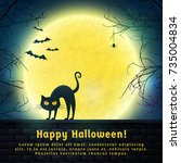 happy halloween  background... | Shutterstock .eps vector #735004834