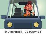happy smiling man character...   Shutterstock .eps vector #735009415