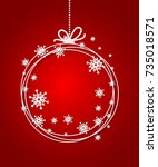 red christmas ball background... | Shutterstock .eps vector #735018571