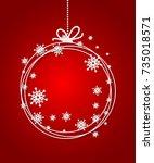 red christmas ball background... | Shutterstock .eps vector #735018571