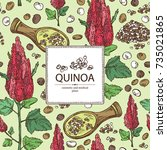 background with quinoa  plant... | Shutterstock .eps vector #735021865