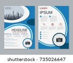 modern business two sided flyer ... | Shutterstock .eps vector #735026647
