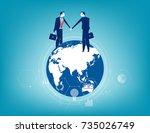 global business. business... | Shutterstock .eps vector #735026749