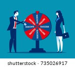 business team and result of... | Shutterstock .eps vector #735026917