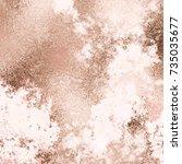 vector copper grunge background ... | Shutterstock .eps vector #735035677