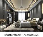 3d rendering luxury tropical... | Shutterstock . vector #735036061