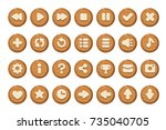 set of buttons for games ... | Shutterstock .eps vector #735040705