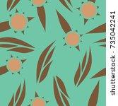 pattern in flower style | Shutterstock .eps vector #735042241