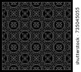 black and white bandana print... | Shutterstock .eps vector #735045055