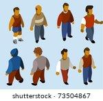set of isometric people. build... | Shutterstock .eps vector #73504867