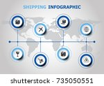 infographic design with... | Shutterstock .eps vector #735050551