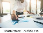business concept. business... | Shutterstock . vector #735051445