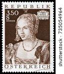vienna  austria   may 6  1971 ... | Shutterstock . vector #735054964