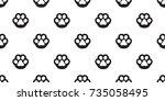 cat paw dog paw kitten puppy... | Shutterstock .eps vector #735058495