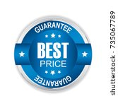 best price badge with silver... | Shutterstock . vector #735067789