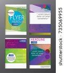 flyer design business annual...   Shutterstock .eps vector #735069955
