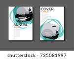emerald green modern cover... | Shutterstock .eps vector #735081997
