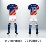 3d realistic of front and back...   Shutterstock .eps vector #735088579