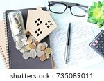 business  finance  saving money ... | Shutterstock . vector #735089011