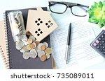 business  finance  saving money ...   Shutterstock . vector #735089011