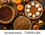 Fall traditional pies pumpkin ...