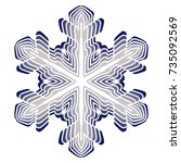 a symbolic snowflake. element... | Shutterstock .eps vector #735092569