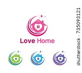 love home logo | Shutterstock .eps vector #735093121