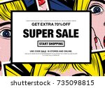 sale banner. special offer... | Shutterstock .eps vector #735098815