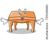 surprised table character... | Shutterstock .eps vector #735100681