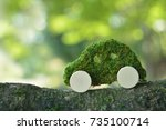 concept of a ecology car    Shutterstock . vector #735100714