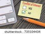 concept of no conflict of... | Shutterstock . vector #735104434