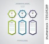 vector infographics timeline... | Shutterstock .eps vector #735105289