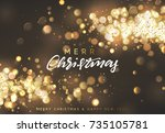 christmas background with... | Shutterstock .eps vector #735105781