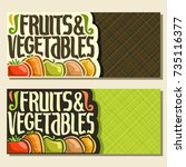vector banners for fruits and... | Shutterstock .eps vector #735116377