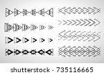 viking bracelet or tattoo.... | Shutterstock .eps vector #735116665