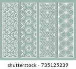 decorative geometric line... | Shutterstock .eps vector #735125239