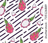 vector seamless pattern with... | Shutterstock .eps vector #735126889