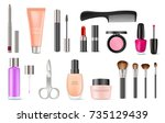 female decorative cosmetics of... | Shutterstock .eps vector #735129439