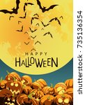 beautiful poster for the... | Shutterstock .eps vector #735136354