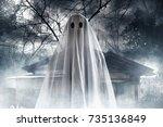 ghost | Shutterstock . vector #735136849