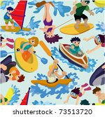 seamless water sport pattern | Shutterstock .eps vector #73513720