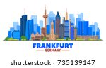 frankfurt skyline. germany.... | Shutterstock .eps vector #735139147