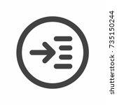 read more icon vector | Shutterstock .eps vector #735150244